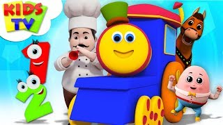 Cute Cartoon Kids Songs For Babies | Bob The Train Nursery Rhymes - Kids Tv