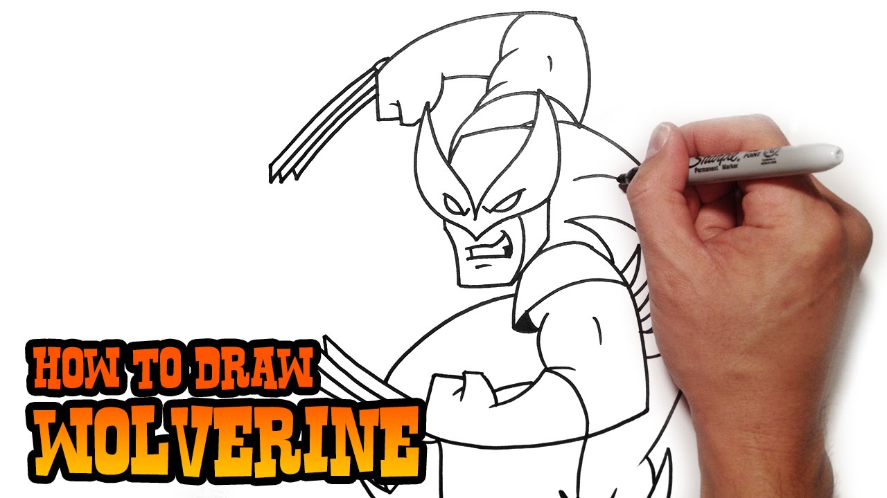 Uncategorized How To Draw Video how to draw wolverine step by video lesson youtube