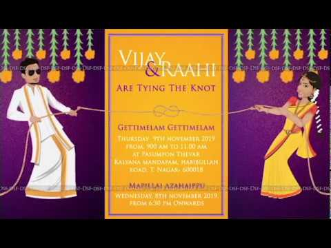 Quirky Wedding Invitation South Indian Youtube