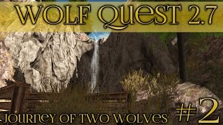 Wolf at the Waterfall!! || Wolf Quest 2.7 - Brothers Journey || Episode #2