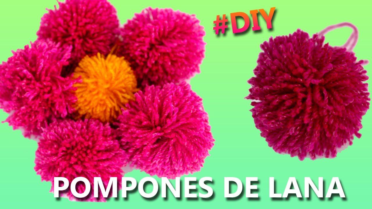 Pompones de lana c mo hacer pompones de estambre de lana - Como hacer pompones de lana rapido ...