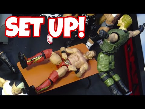 Classic WWE Action Figure Set Up