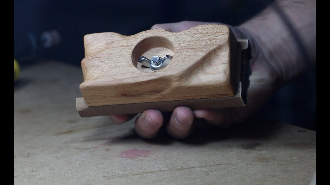 ⇒ diy making an ergonomic sanding block
