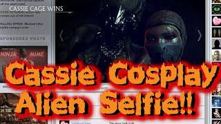 cosplay cassie gives alien a selfie   mortal kombat xl online matches