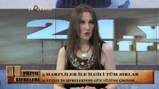 21 YÜZYIL ŞİFRELERİ 12.09.2014 TVEM