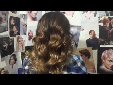 Окрашивание сомбре на темные волосы