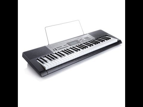 LK165 Lighted Electric Keyboard with Stand and Mic