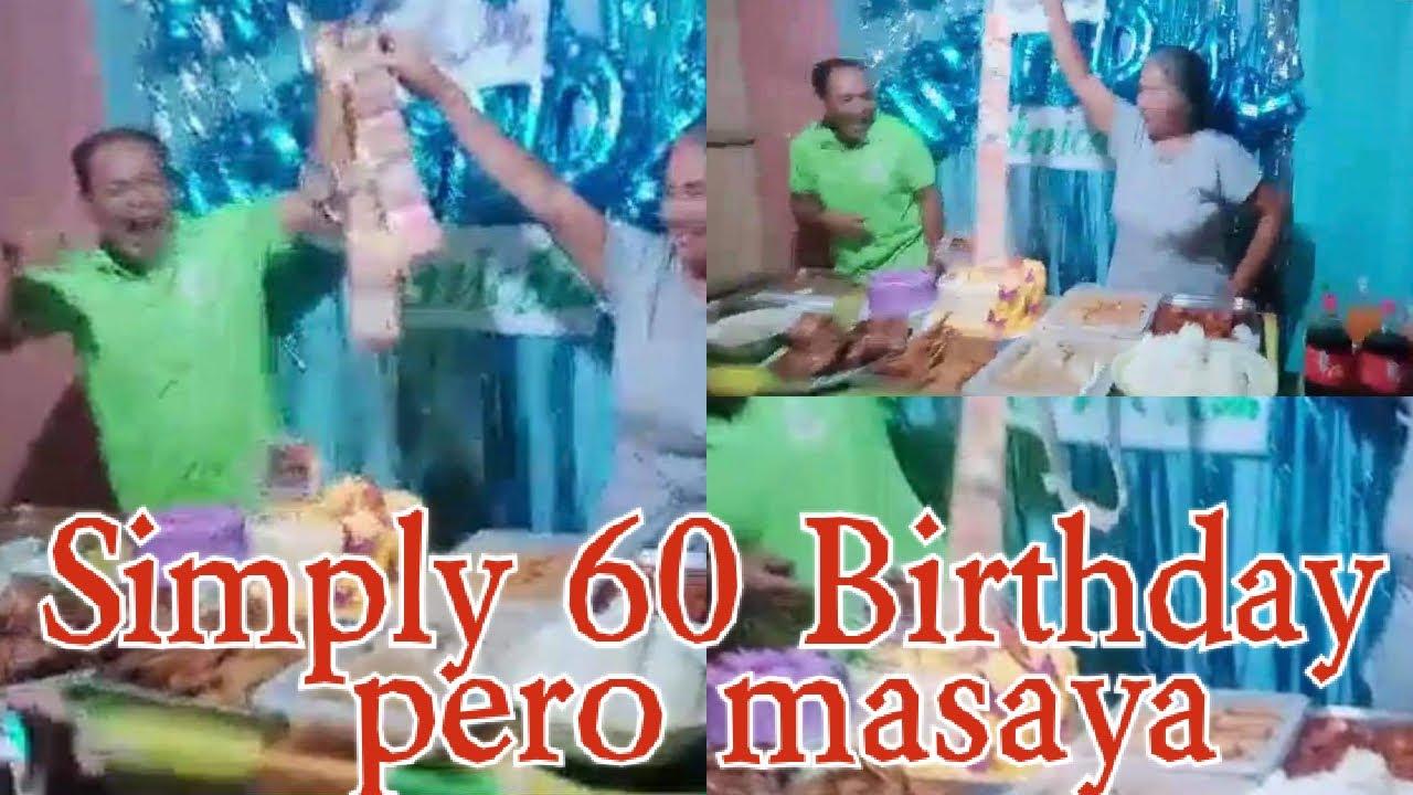 Nag effort ang mga anak para Sumaya mag 60 birthday ang Nanay nila /simply birthday pero masaya !!!