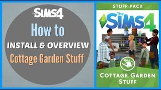 Cottage Garden Stuff  🌷 | The Sims 4 Fanmade Stuff Pack | Sims 4 CC Install and Overview