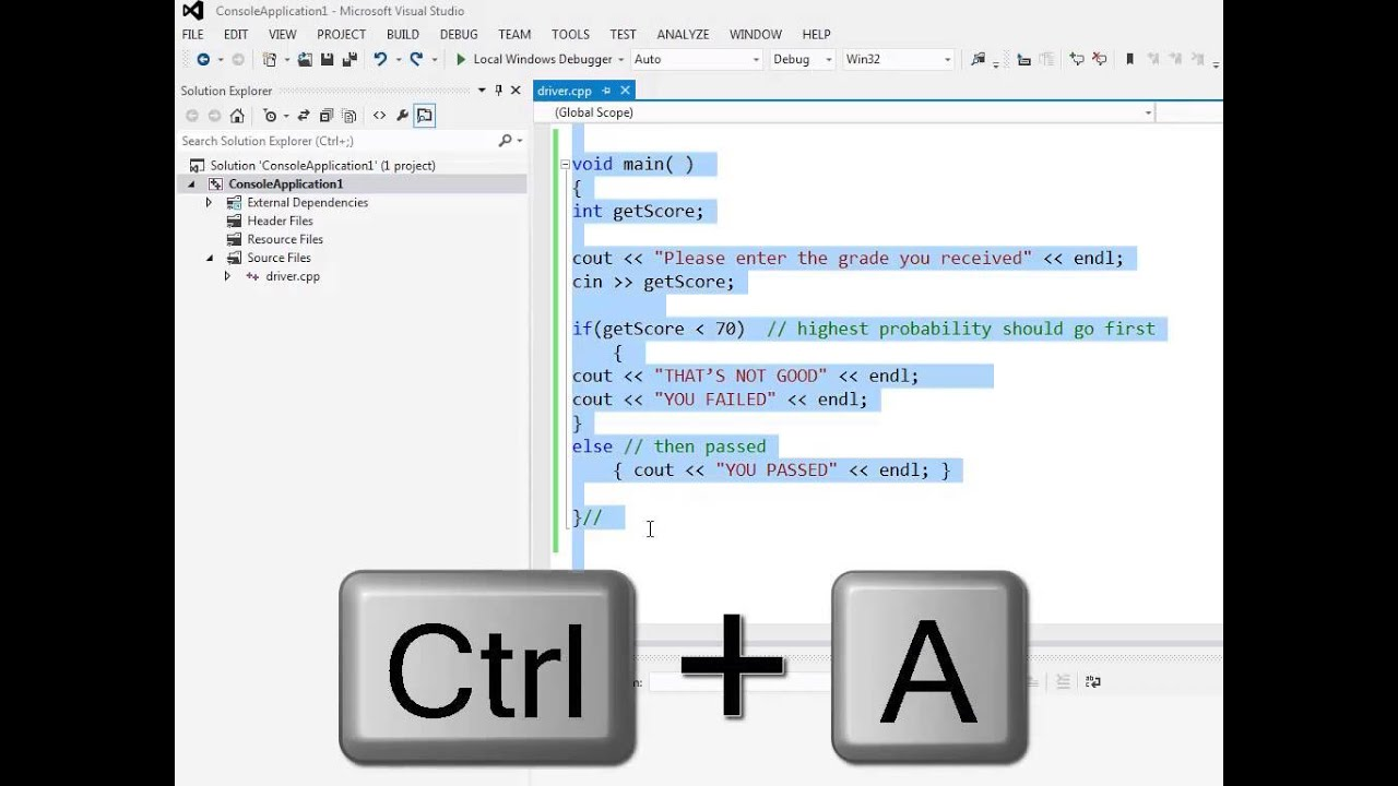 Auto Indenting Code In Visual Studio 2012 Youtube