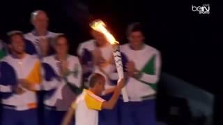 Олимпийский огонь и салют. Круто
