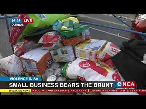 Small business bears the burnt