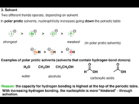 Nucleophilicity And Basicity Or Nucleophiles And Bases Youtube