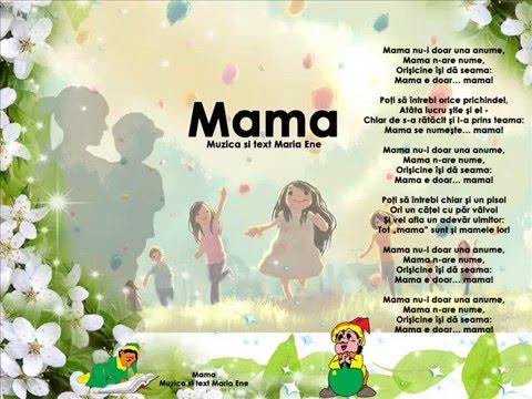 MAMA (nu-i doar una anume) – Cantece pentru copii in limba romana