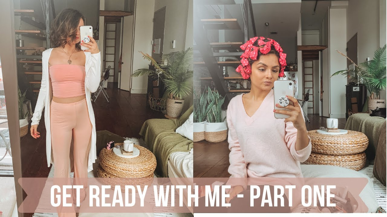GET READY WITH ME PART 1: Self Quarantine - Foam Hair Rollers Tutorial