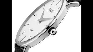 Часы sinobi тонкие!Цена качество из Китая (обзор-распоковка)