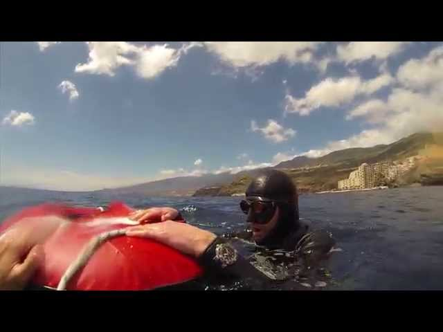 Freediving Test at Tenerife: Oris Aquis Depth Gauge at 40m deep