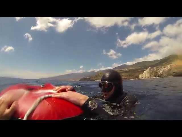 Freediving Test at Tenerife: Oris Aquis Depth Gauge at 40m deep