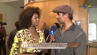 TV Fama: Bombom conhece a namorada de Marcos Pasquim