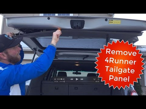 How to Remove Toyota 4Runner Tailgate Rear Hatch Door Panel