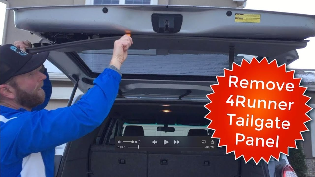How To Remove Toyota 4runner Tailgate Rear Hatch Door