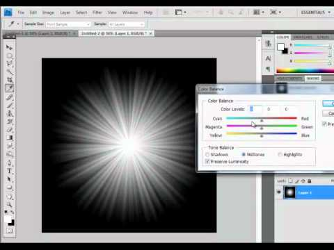 how to create starbursts for photoshoot