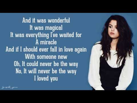 Selena Gomez - The Way I Loved You (Lyrics)