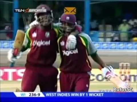 Shivnarine Chanderpaul last ball six vs Sri Lanka - 1st ODI 2008
