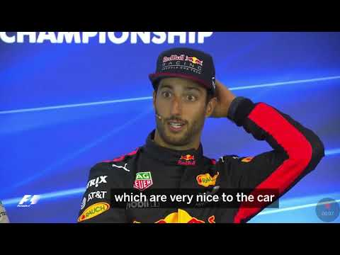 Belgium 2017. Daniel Ricciardo funny press conference. How he treats his car!!! Really funny😂😂😂