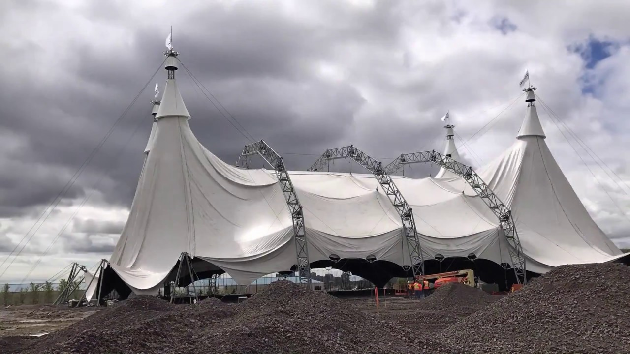 The Odysseo White Big Top arrives in Mississauga