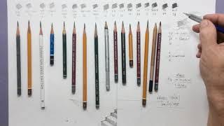 Graduações  e valores tonais do seu lápis