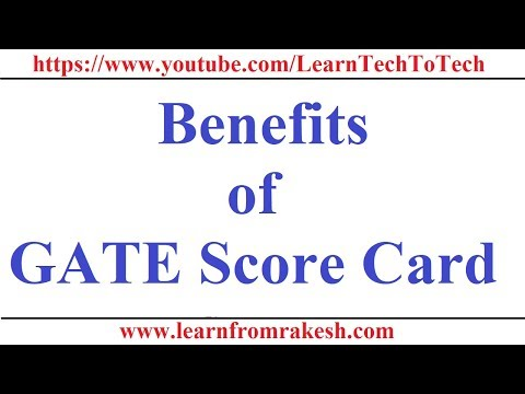 Benefits of GATE(Graduate Aptitude Test in Engineering) Score Card