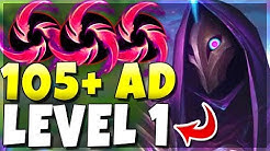 105+ AD LEVEL 1???? New Hail of Blades Jhin Is INSANE!! (1000+ AD) | League of Legends