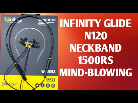 Infinity (JBL) Glide N120 Neckband BT 5.0  Bluetooth with Mic detail soundtest unboxing