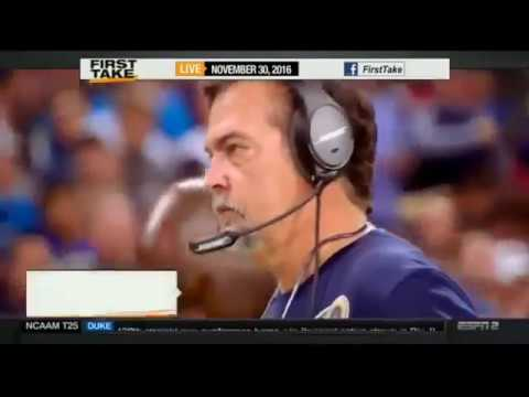 First Take - Stephen A Smith goes HAM after Rams Exec says Jeff Fisher is doing a GREAT job