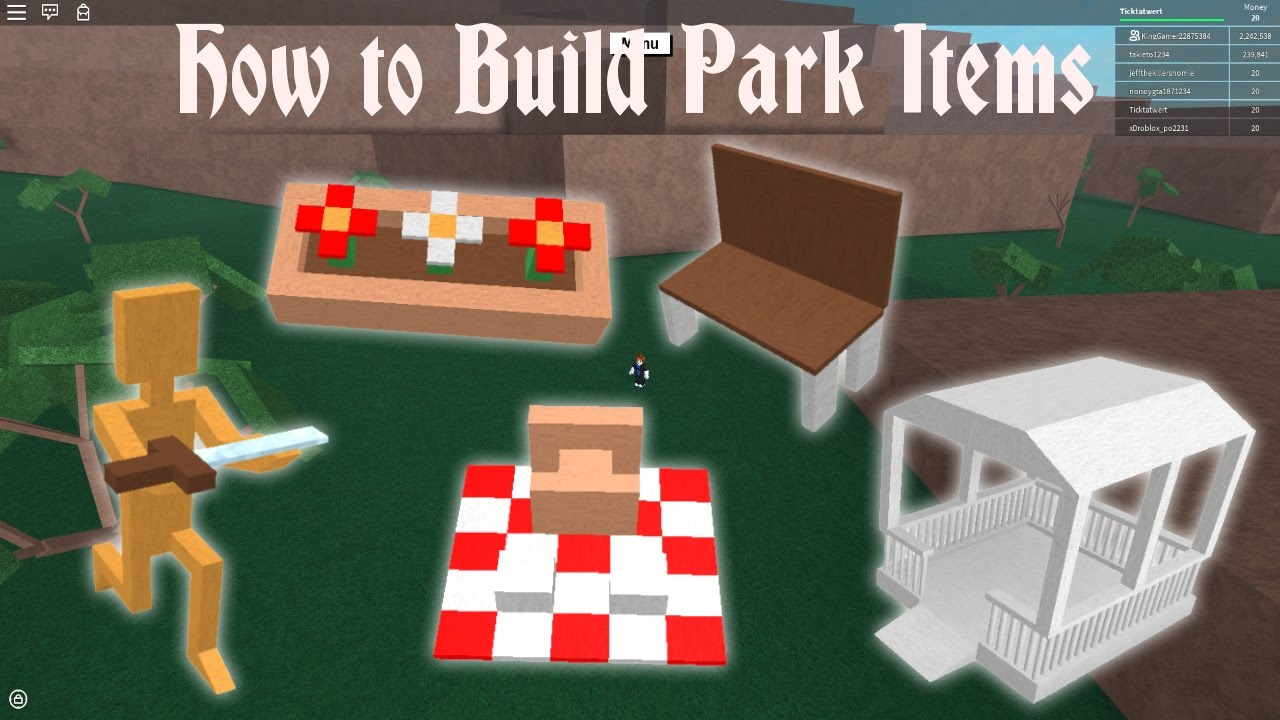 Lumber tycoon 2 | How to Build Park Items (Final Tutorial)