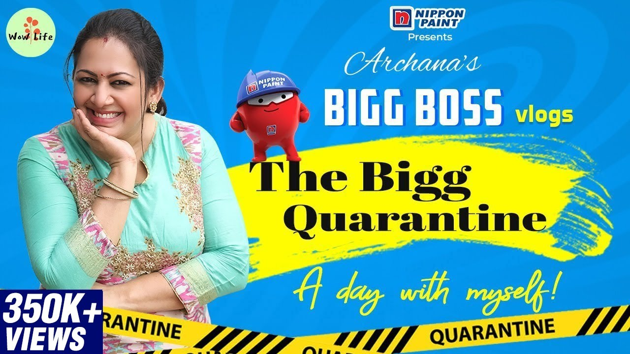 Archana's Bigg Boss Vlog Series   The Bigg Quarantine   A Day with Myself   #BiggBoss4 #wowlife