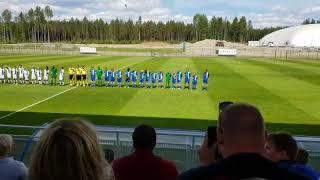 Huuhkajapäivät Allstars -ottelu alkuseremonia 2018