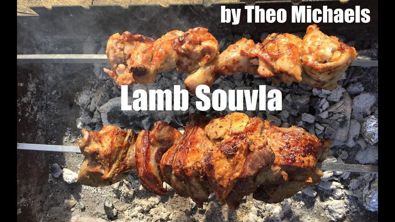 Souvla Lamb Traditional Cyprus Bbq Greek On Rotisserie