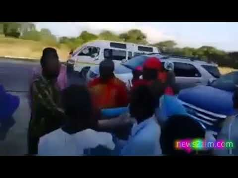 Nelson Chamisa Stops To Campaign By The Roadside On His Way To A Rally