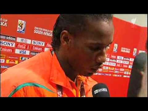 English Interview with Didier Drogba and Didier Zokora after the Portugal game at the 2010 World Cup