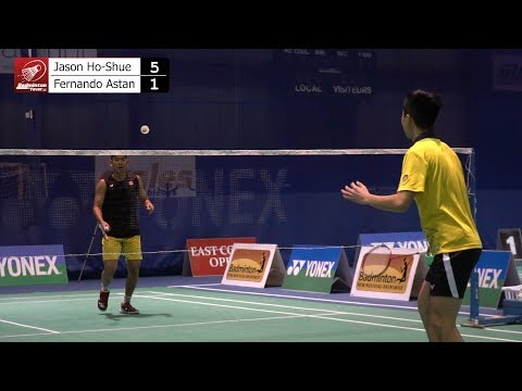 Badminton MS Finals - East Coast Open 2018 - Jason Ho-Shue Vs Fernando Astan