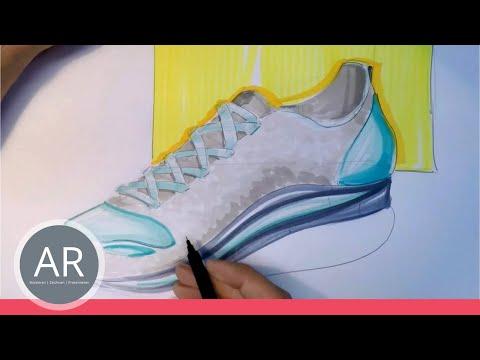 Zeichnen lernen  – Schuhskizze  – Akademie Ruhr Tutorial
