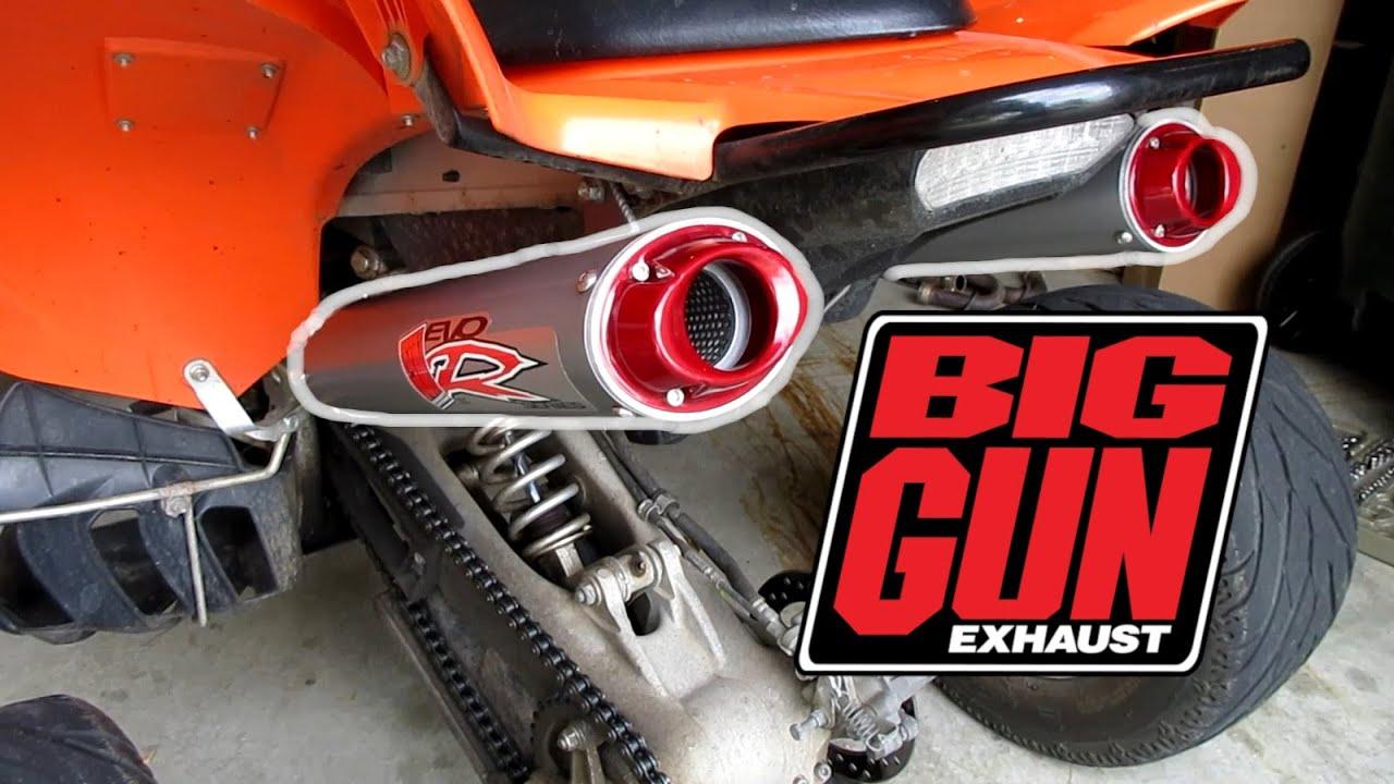 raptor 700 big gun dual exhaust install and sound