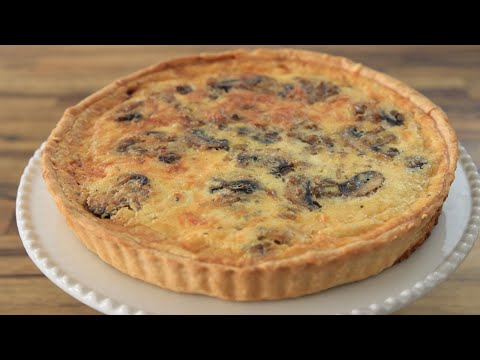 Mushroom Quiche Recipe | How to Make Mushroom Quiche