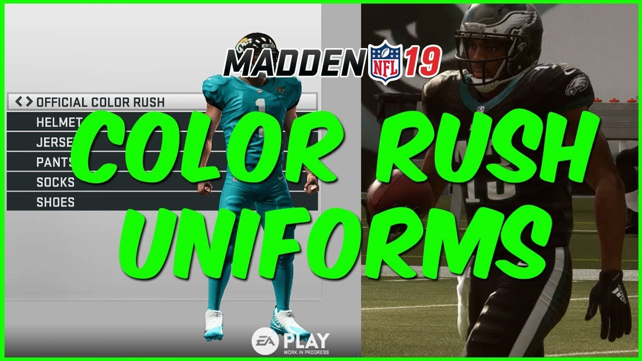 48a207e49ef Madden 19 | Every Color Rush Uniform In Madden 19 - YouTube
