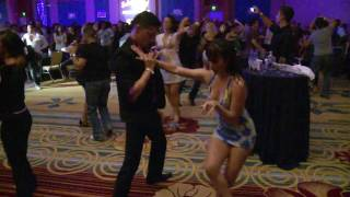 Nery Garcia and Giana Montoya Salsa Dancing at OSC 2010 After Party