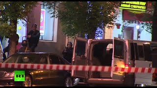 Gunman takes 6 hostage in Moscow bank, shot dead by police (recorded live)