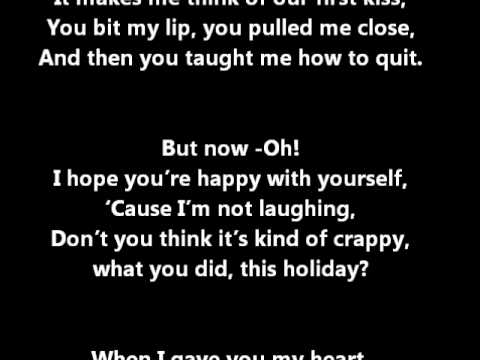 All Time Low Merry Christmas Kiss My Ass Lyrics On Screen In