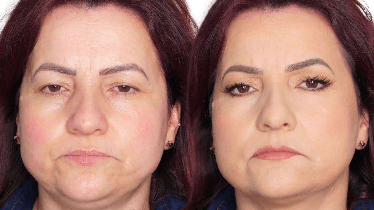 MAKE SIMPLES, SUPER LEVE PELE MADURA - Maquiando cliente